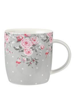 Catherine Lansfield By Portmeirion Canterbury Grey Mugs Set Of 2