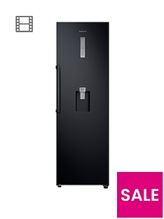 samsung-rr39m7340bceunbspfrost-free-tall-larder-fridge-with-non-plumbed-water-dispenser-and-5-year-samsung-parts-and-labour-warranty-black