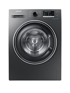 Samsung WW70J5555EX/EU 7kg Load, 1400 Spin Washing Machine with ecobubble™ Technology and 5 Year Samsung Parts and Labour Warranty - Graphite