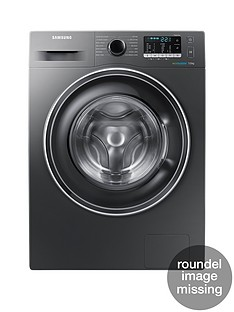 Samsung WW70J5555EX/EU 7kg Load, 1400 Spin Washing Machine with ecobubble™ Technology - Graphite, 5 Year Samsung Parts and Labour Warranty