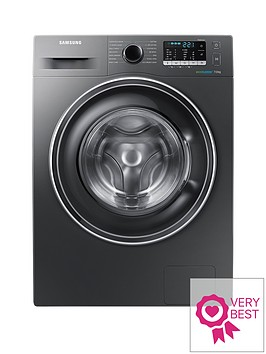 samsung-ww70j5555exeu-7kgnbspload-1400-spin-washing-machine-with-ecobubbletradenbsptechnology-graphite-5-year-samsung-parts-and-labour-warranty