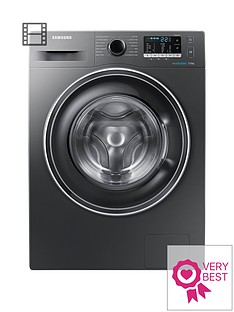 Samsung WW70J5555EX/EU 7kg Load, 1400 Spin Washing Machine with ecobubble™ Technology - Graphite
