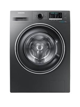 Samsung Ww70J5555Ex/Eu 7Kg Load, 1400 Spin Washing Machine With Ecobubble&Trade; Technology - Graphite
