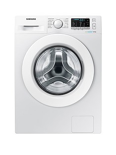 Samsung WW80J5355MW/EU 8kg Load, 1200 Spin Washing Machine  with ecobubble™ Technology and 5 Year Samsung Parts and Labour Warranty - White