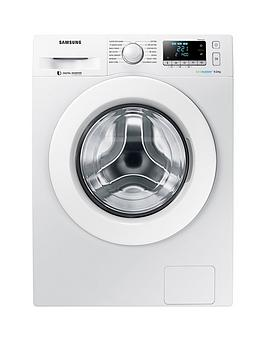 Samsung Ww90J5456Mw/Eu 9Kg Load, 1400 Spin Washing Machine With Ecobubble&Trade; Technology And 5 Year Samsung Parts And Labour Warranty - White