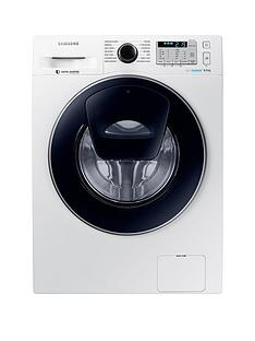 Samsung WW80K5413UW/EU 8kg Load, 1400 Spin AddWash Washing Machine with ecobubble™ Technology and 5 Year Samsung Parts and Labour Warranty - White