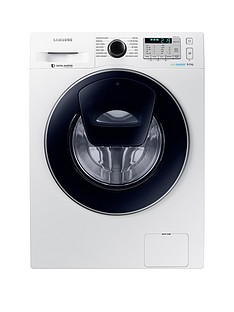 Samsung WW80K5413UW/EU 8kg Load, 1400 Spin AddWash Washing Machine with ecobubble™ Technology - White, 5 Year Samsung Parts and Labour Warranty