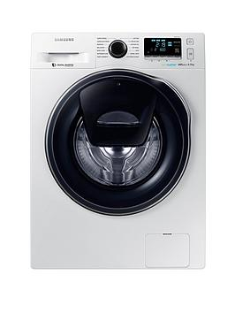 Samsung Ww90K6610Qw/Eu 9Kg Load, 1600 Spin Addwash Washing Machine With Ecobubble&Trade;  Technology And 5 Year Samsung Parts And Labour Warranty - White