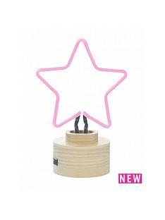 star-neon-table-lamp