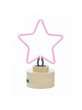 star-neon-table-lamp