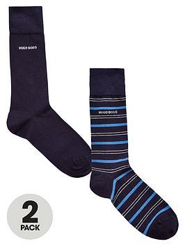 hugo-boss-2pk-stripeplain-sock