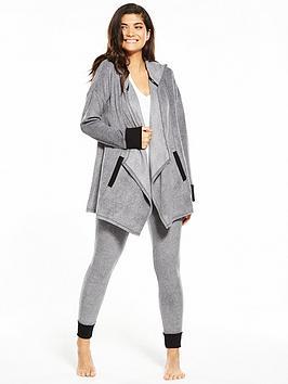 dkny-long-sleeve-hooded-cozy-lounge-set-grey