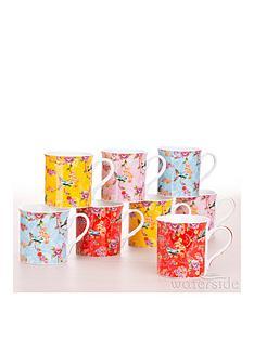 waterside-bird-of-paradise-mugs-set-of-8