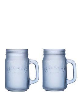 kilner-blue-frosted-jar-set-of-2