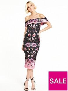river-island-printed-bardot-dress