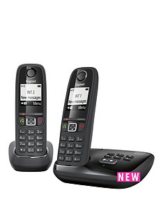 gigaset-gigaset-as405a-twin-cordless-phone-black