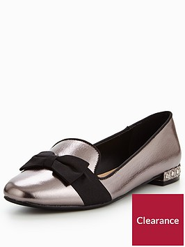 v-by-very-sally-jewel-heel-bow-ballerina-silver