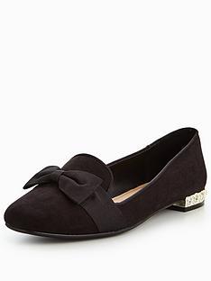 v-by-very-sally-jewel-heel-bow-ballerina-black
