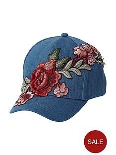 river-island-river-island-girls-dark-denim-embroidered-cap