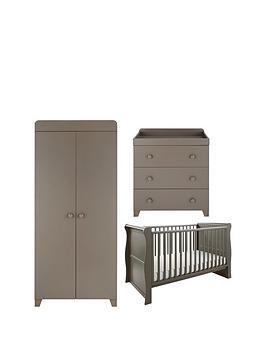 little-acorns-sleigh-cot-bed-changer-amp-wardrobe-set-grey