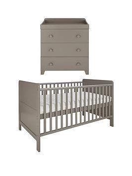little-acorns-cot-bed-amp-changer-set-grey