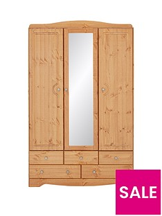 milford-3-door-5-drawer-mirrored-wardrobe