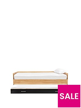 kidspace-ohio-single-bed-frame-pull-out-guest-bed-black-pink