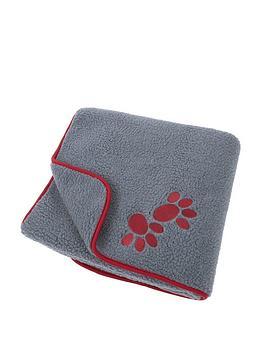 Petface Oxford Sherpa Fleece Comforter - Red Paws