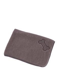 petface-brown-tweed-sherpa-comforter