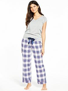 v-by-very-soft-touch-check-pj-set-with-tee