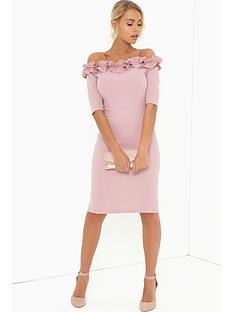 paper-dolls-rose-ruffle-bodycon-dress
