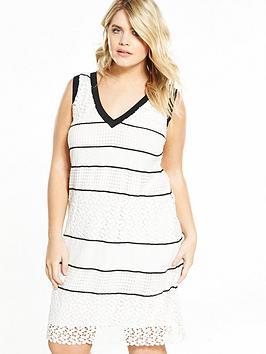 Elvi Curve Monochrome Lace Dress