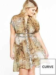 elvi-curve-yellow-snake-print-dress