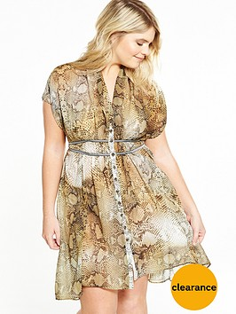 elvi-curve-yellow-snake-print-dress
