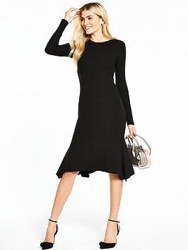 v-by-very-godet-hem-knitted-midi-dress