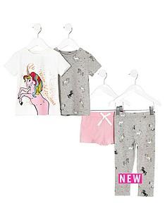 river-island-girls-white-print-pyjama-set-multipack