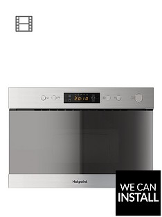 hotpoint-mn314ixh-60cm-built-in-microwave-with-grill-and-optional-installation-stainless-steel
