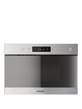 Image of Hotpoint Class 3 Mn314Ixh 60Cm Built-In Microwave With Grill And Optional Installation - Stainless Steel - Microwave Only