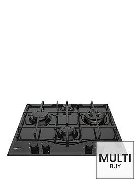 hotpoint-pcn642thbk-60cm-built-in-gas-hob-with-optional-installation-black