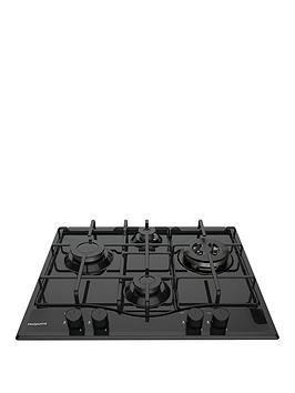 Hotpoint Pcn642T/H(Bk) 60Cm Built-In Gas Hob - Hob With Installation