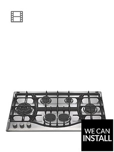 hotpoint-phc961tsixh-90cm-built-in-gas-hob-with-fsd-and-optional-installation-stainless-steel