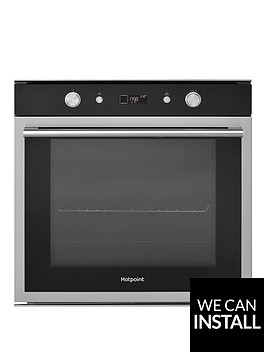 hotpoint-class-6nbspsi6864shix-60cm-built-in-electric-single-oven-with-optional-installation-blackstainless-steel