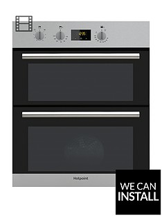 hotpoint-class-2-du2540ix-60cmnbspbuilt-under-double-electric-ovennbspwith-optional-installation-stainless-steel