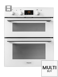hotpoint-class-2nbspdu2540wh-60cm-built-under-double-electric-oven-with-optional-installation-white