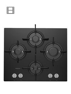 hotpoint-ftghg641dhbk-60cm-built-in-gas-hob-with-fsdnbsp--black