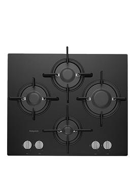Hotpoint Ftghg641D/H(Bk) 60Cm Built-In Gas Hob With Fsd And Optional Installation - Black - Hob Only
