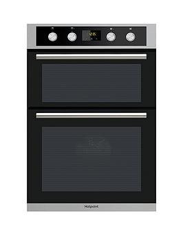 Hotpoint Dd2844Cix 60Cm Electric Built In Double Oven- Stainless Steel/Black - Oven With Installation thumbnail