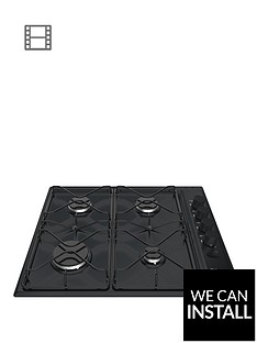 hotpoint-pas642hbk-58cm-wide-built-in-gas-hob-black