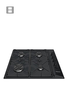 hotpoint-ppas642hbk-58cm-wide-built-in-gas-hob-with-fsdnbsp--blackp