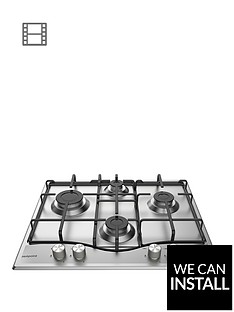 hotpoint-pcn642ixh-60cm-wide-built-in-hob-with-optional-installation-stainless-steel